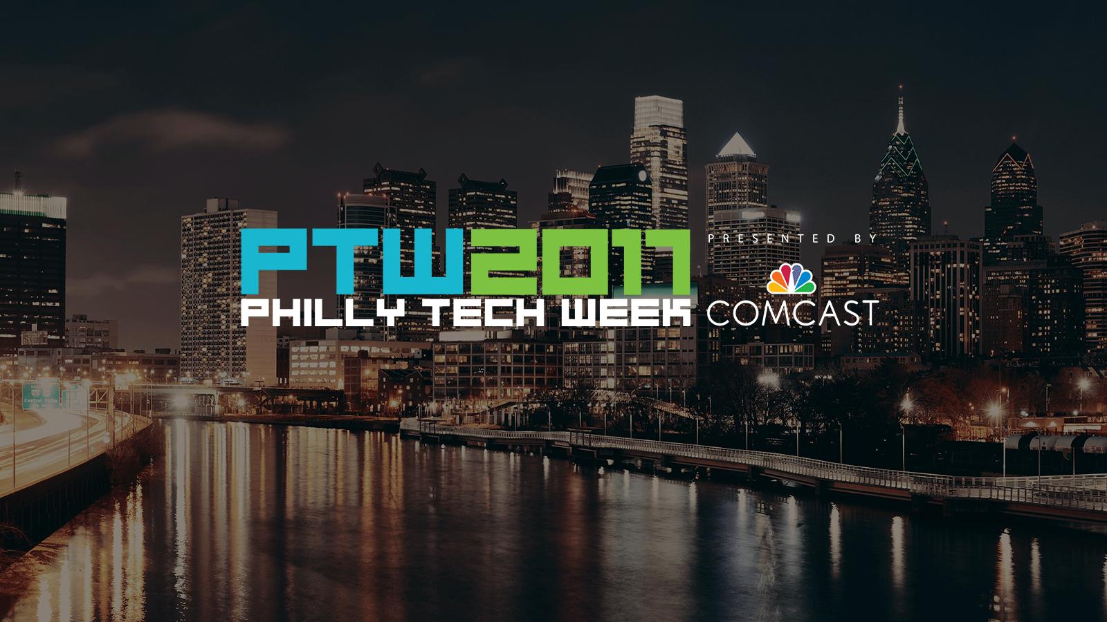 PTW 2017 logo and Philadelphia skyline